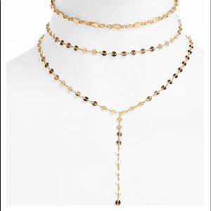 BaubleBar layered gold necklace